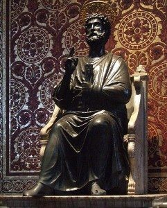 Statue of Saint Peter holding the Keys, Vatican City