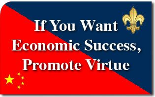 If You Want Economic Success, Promote Virtue