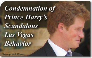 Condemnation of Prince Harry's Scandalous Las Vegas Behavior