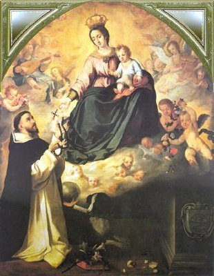 Our Lady gives the Rosary to St. Dominic of Guzman