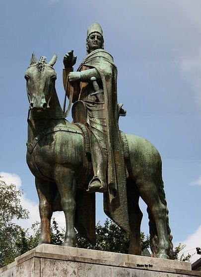 Saint Engelbert of Cologne, Count of Berg, on horseback