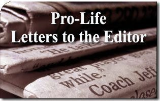 Best Pro-Life Letters to the Editor