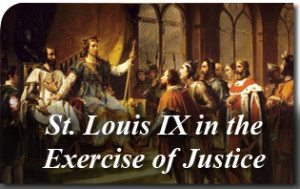Saint Louis IX in the Exercise of Justice