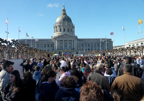 A partial view of the record 2013 gathering of pro-life supporters in San Francisco, California.