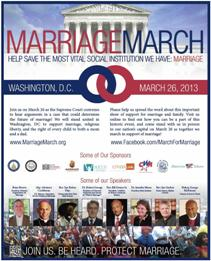 March for Marriage flyer