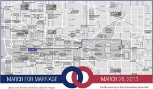 March for Marriage Map