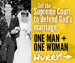 Tell the Supreme Court to defend God's marriage: one man, one woman