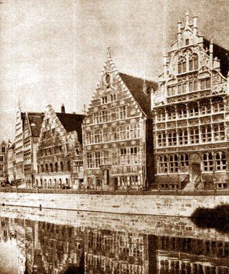 Guild offices in Ghent, Belgium