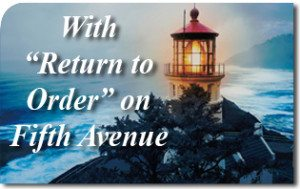With 'Return to Order' on Fifth Avenue