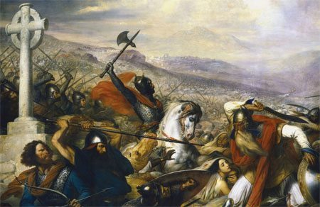 Charles Martel at the Battle of Poitier