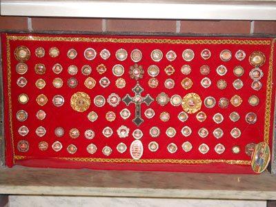Relics which show the true Catholic nature of JMJ Catholic Radio 750.