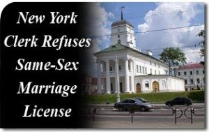 New York Clerk Refuses Same-Sex Marriage License