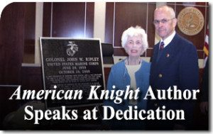 American Knight Author Speaks at Dedication