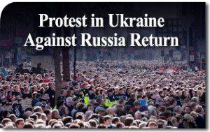 Protest in Ukraine Against Russia Return