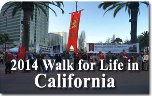 American TFP Joins Enthusiastic Crowd at the 2014 Walk for Life in California