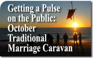 Getting a Pulse on the Public: October Traditional Marriage Caravan