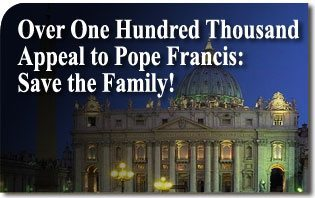 Saint Peter's Basilica Over One Hundred Thousand Appeal to Pope Francis: Save the Family