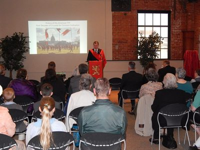 TFP volunteer James Bascom gives talk on the history and major campaigns of the American TFP