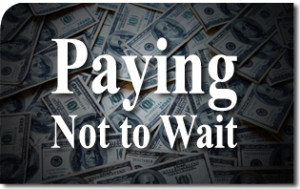 Paying Not to Wait