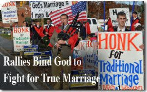 Rallies Bind God to Fight for True Marriage