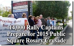 14,000 Rally Captains Prepare for the 2015 Public Square Rosary Crusade