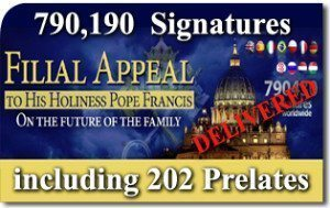 "Final result of the ""Filial Appeal to His Holiness Pope Francis On the Future of the Family"""