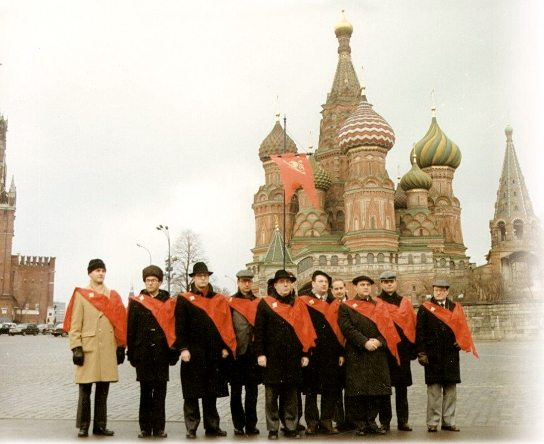 TFP International Delegation in Moscow's Red Square after delivering 5.2 Million Signatures to the Kremlin