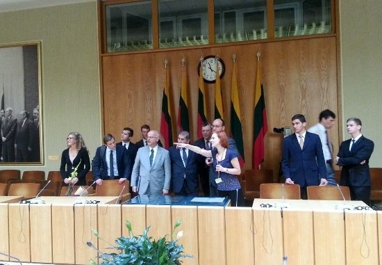 TFP members are received in the Lithuanian Parliament, 2015