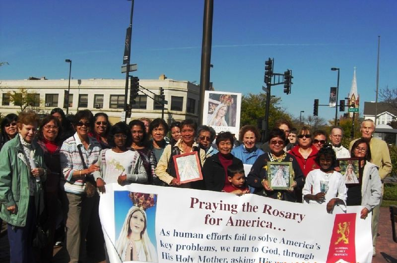 Public Square Rosary Rally in Skokie IL