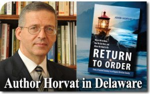 Author Horvat to Bring Return to Order to Delaware