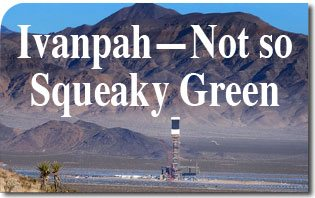 Ivanpah Not so Squeaky Green