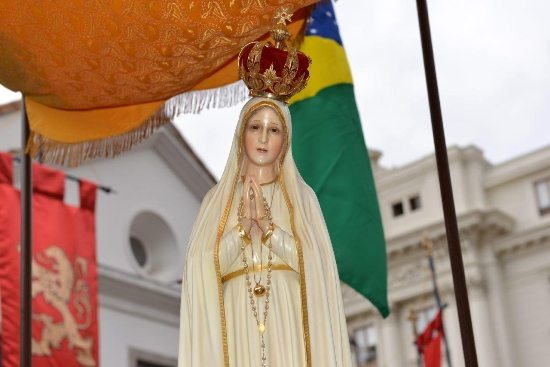 Miraculous statue of the International Pilgrim Virgin of Our Lady of Fatima