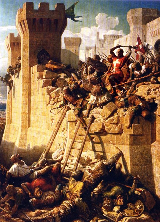 Crusader Steps Into the Breach during the Siege of Acre