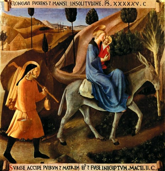 Holy Family's Flight into Egypt by Fra Angelico