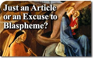 Just an Article or an Excuse to Blaspheme?