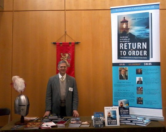 Author John Horvat with Return to Order at Harrisburg Catholic Men's Conference