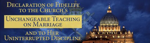 Declaration of Fidelity to the Church's Unchangeable Teaching on Marriage and to Her Uninterrupted Discipline