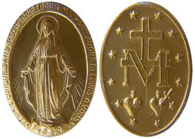 Miraculous Medal front and back