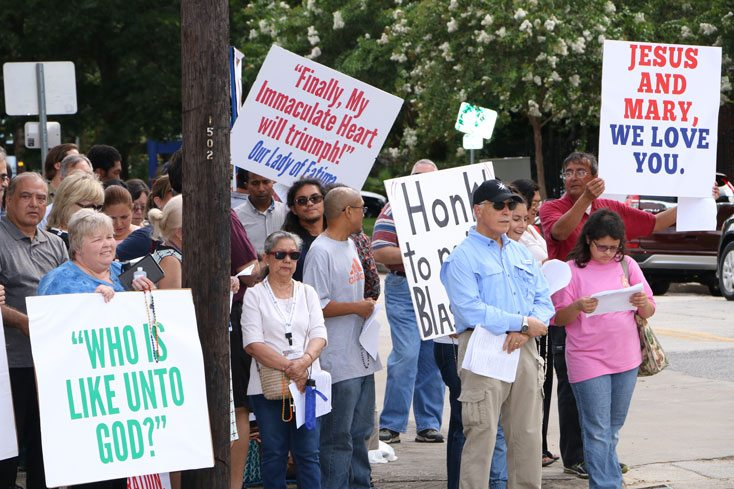 "Houston Catholics say ""Never!"" to Blasphemous ""P#ss Christ"" Exhibit"