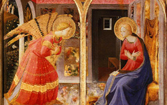 The Sublime Moment of the Archangel's Annunciation to Our Lady
