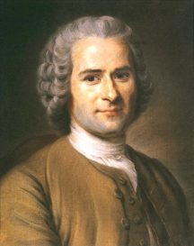 "Jean-Jacques Rousseau, a leading promoter of the ""Noble Savage"" myth"