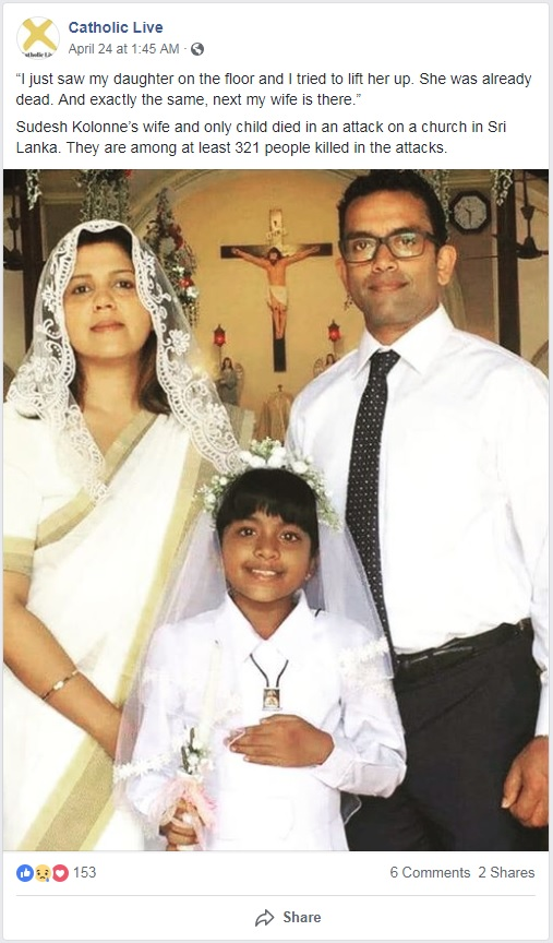 Bloody Easter: The Peace of Christ and Islamic Hatred - Sudesh Kolonne family