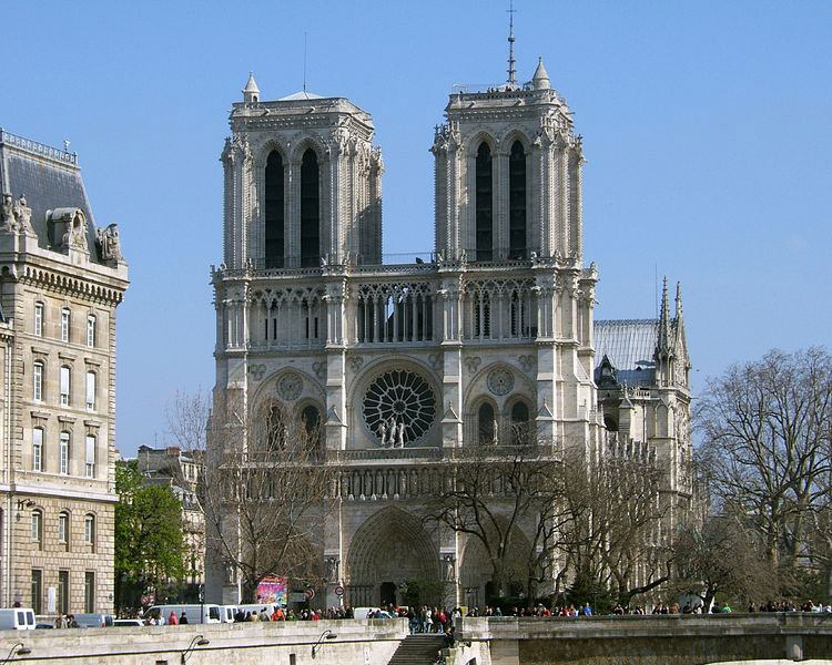 Notre-Dame de Paris - façade of the Cathedral