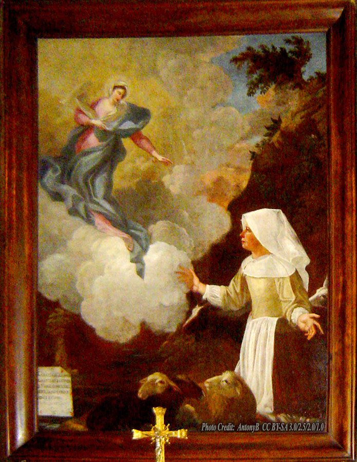 Our Lady of the Good Encounter apparition to Benoîte Rencurel