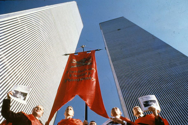 The American TFP campaigning before the World Trade Center in New York City, 1972