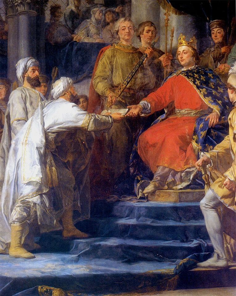 Saint Louis IX, King of France receiving the ambassadors of Tartary (1773), by Guy-Nicolas Brenet