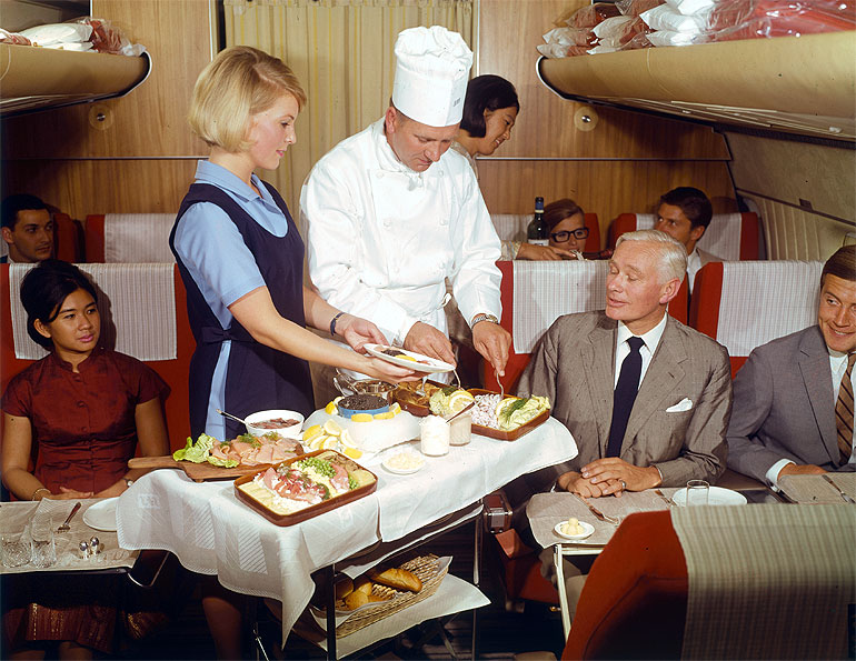 SAS (Scandinavian Airlines) 1969, First Class, Chef service