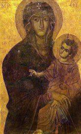 Icon of Salus Populi Romani in the Santa Maria Maggiore Basilica in Rome.
