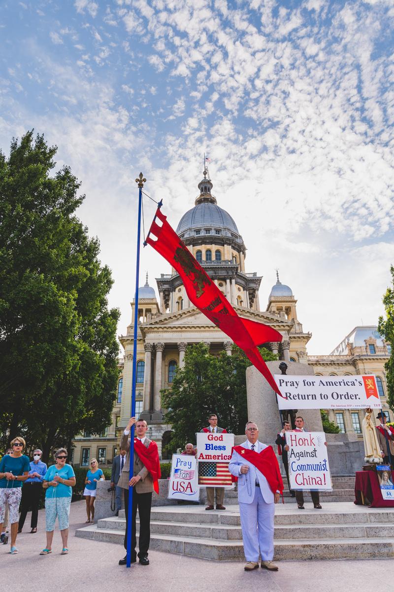 Men Screaming 'Hail Satan' Disrupt the Rosary in Illinois