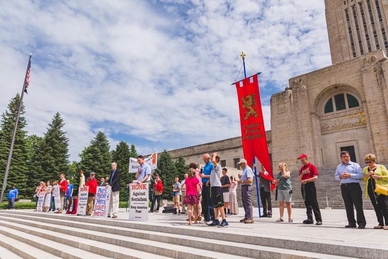 Rosary Rally Calls Satan's Bluff in Lincoln, Nebraska